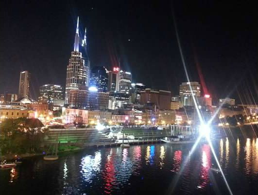 Downtown Nashville Tennessee at night