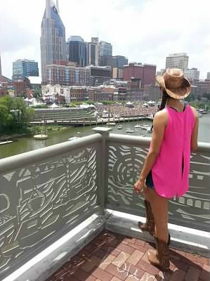 Overlooking the Cumberland River in Nashville Tennessee