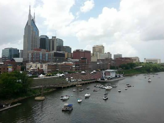 Riverfront Stage at the CMA Festival in Nashville Tennessee