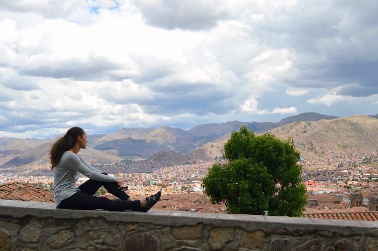 Looking out over Cusco, Peru