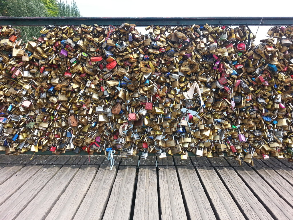 Love Lock Bridge in Paris, France