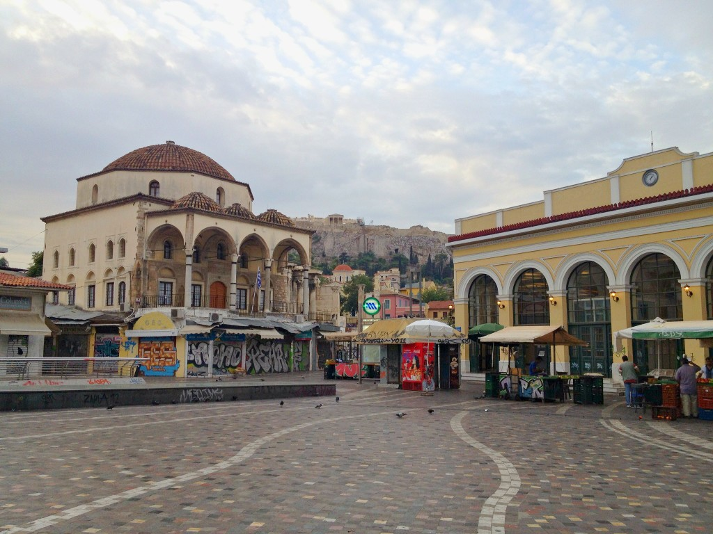 Monastiraki Plaza in Athens, Greece