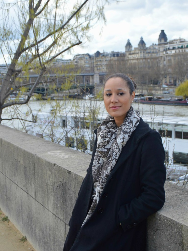 Standing along the River Seine in Paris