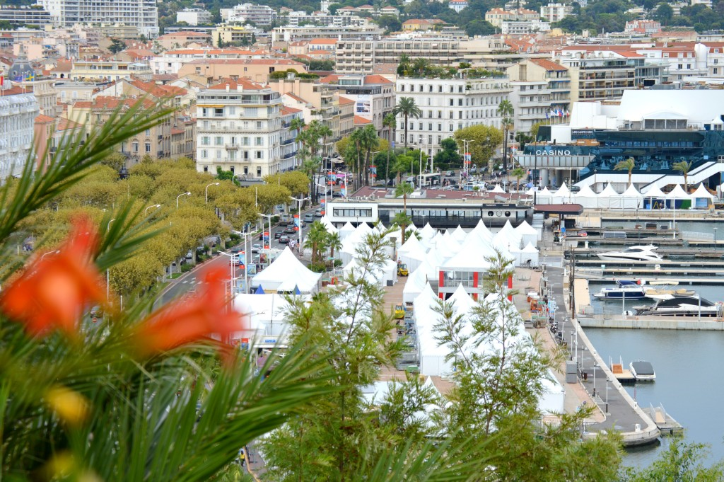 Overlooking the city of Cannes
