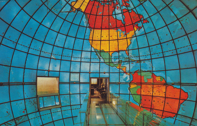 Inside the Mapparium at the Mary Baker Eddy Library