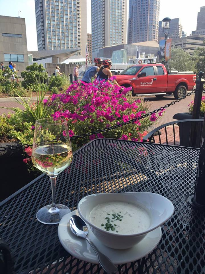 New England clam chowder at Chart House in Boston