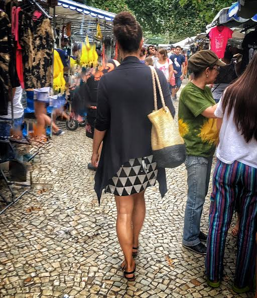 Wandering the stalls of the Hippie Market in Rio De Janeiro
