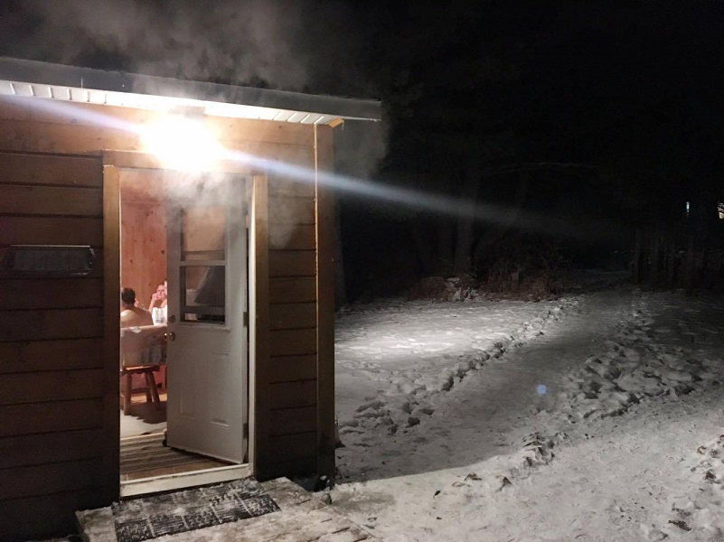 Steam Escaping from a Traditional Russian Sauna