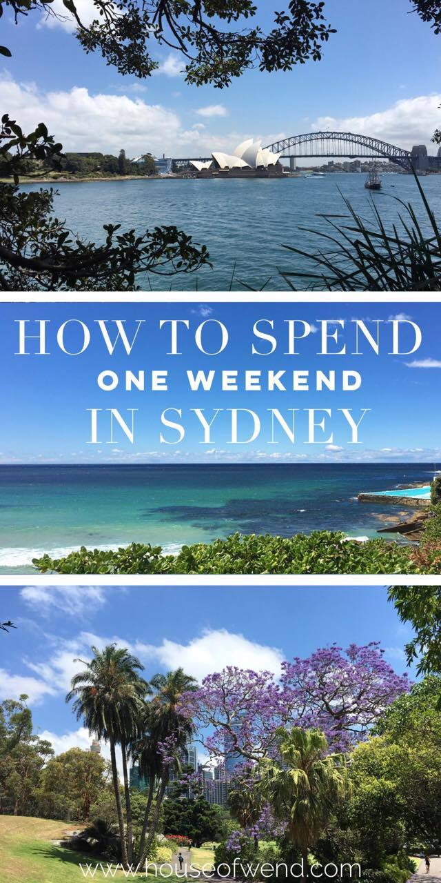 How to spend a weekend in Sydney Pinterest