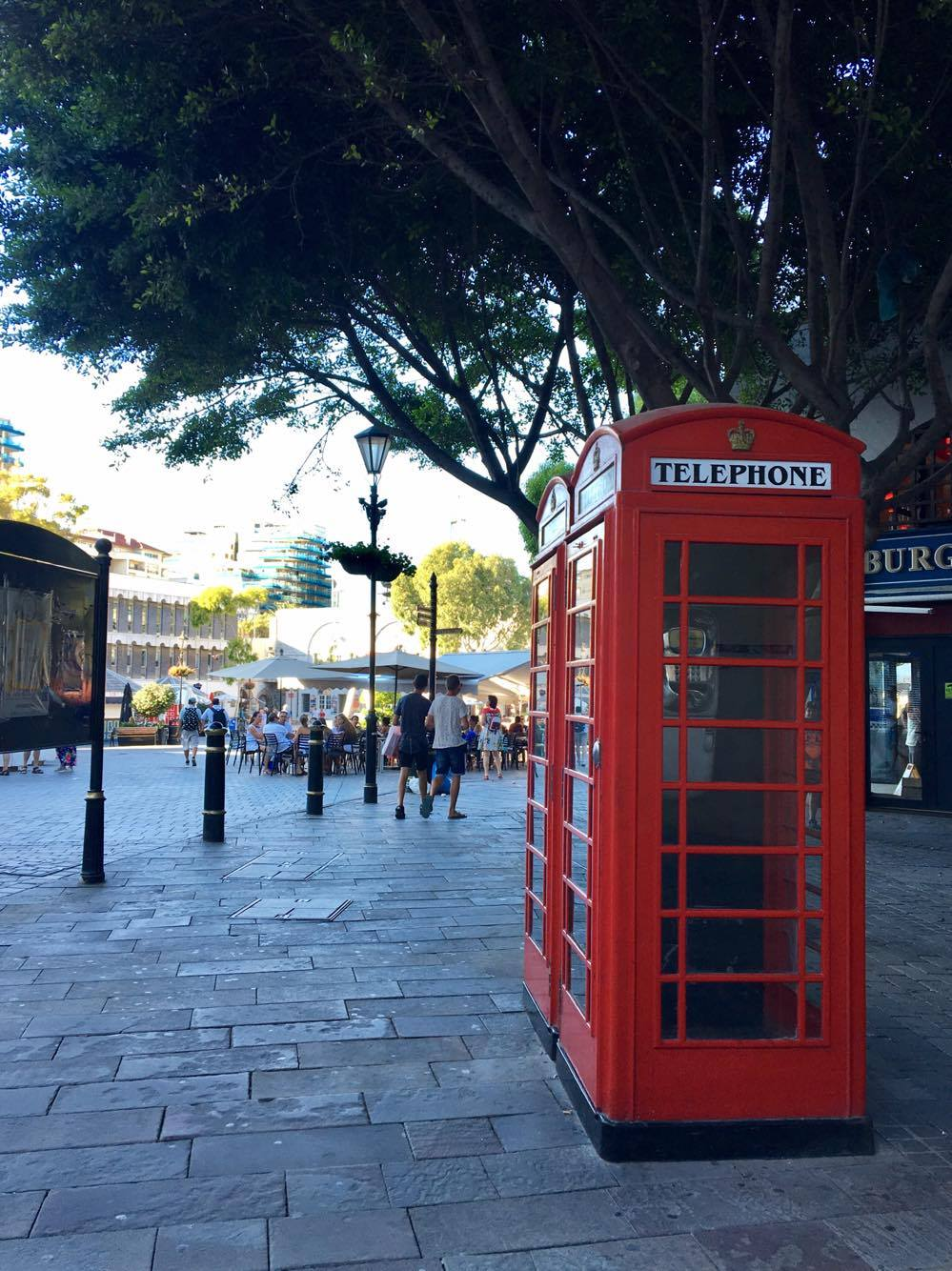 Red telephone booth in Gibraltar
