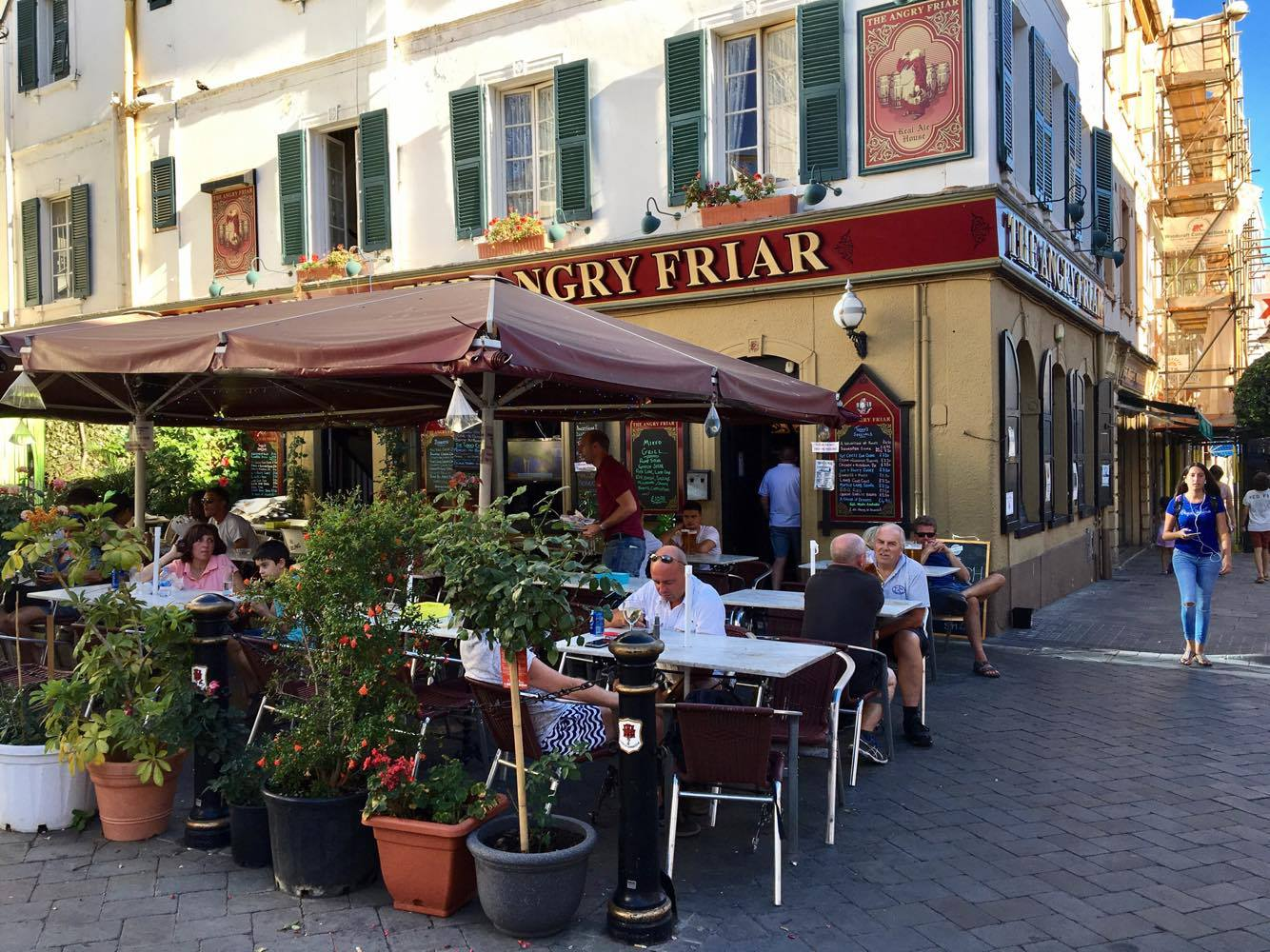 The Angry Friar restaurant in Gibraltar