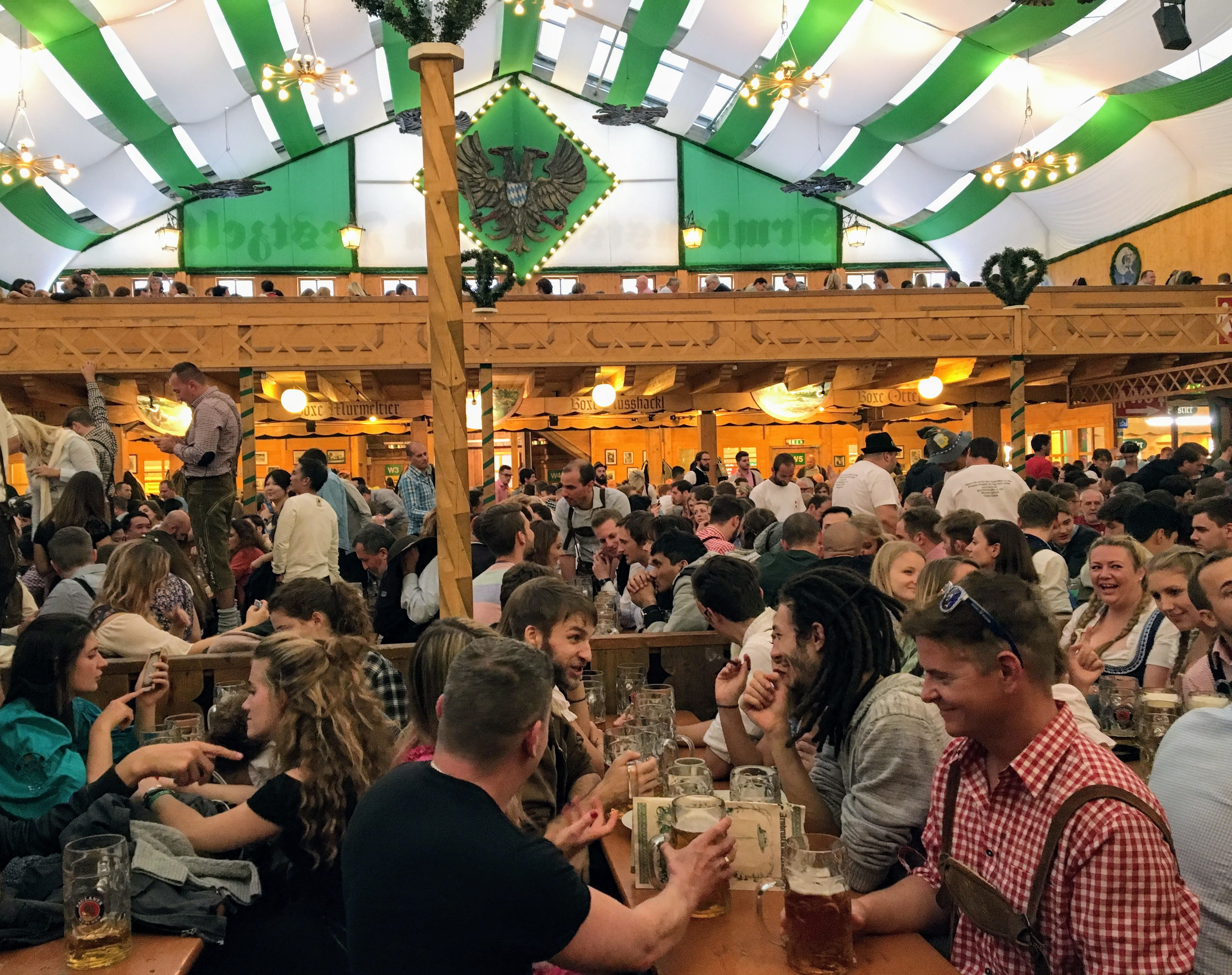 Inside a beer tent at Oktoberfest in Munich Germany & Oktoberfest: What to Know Before You Go