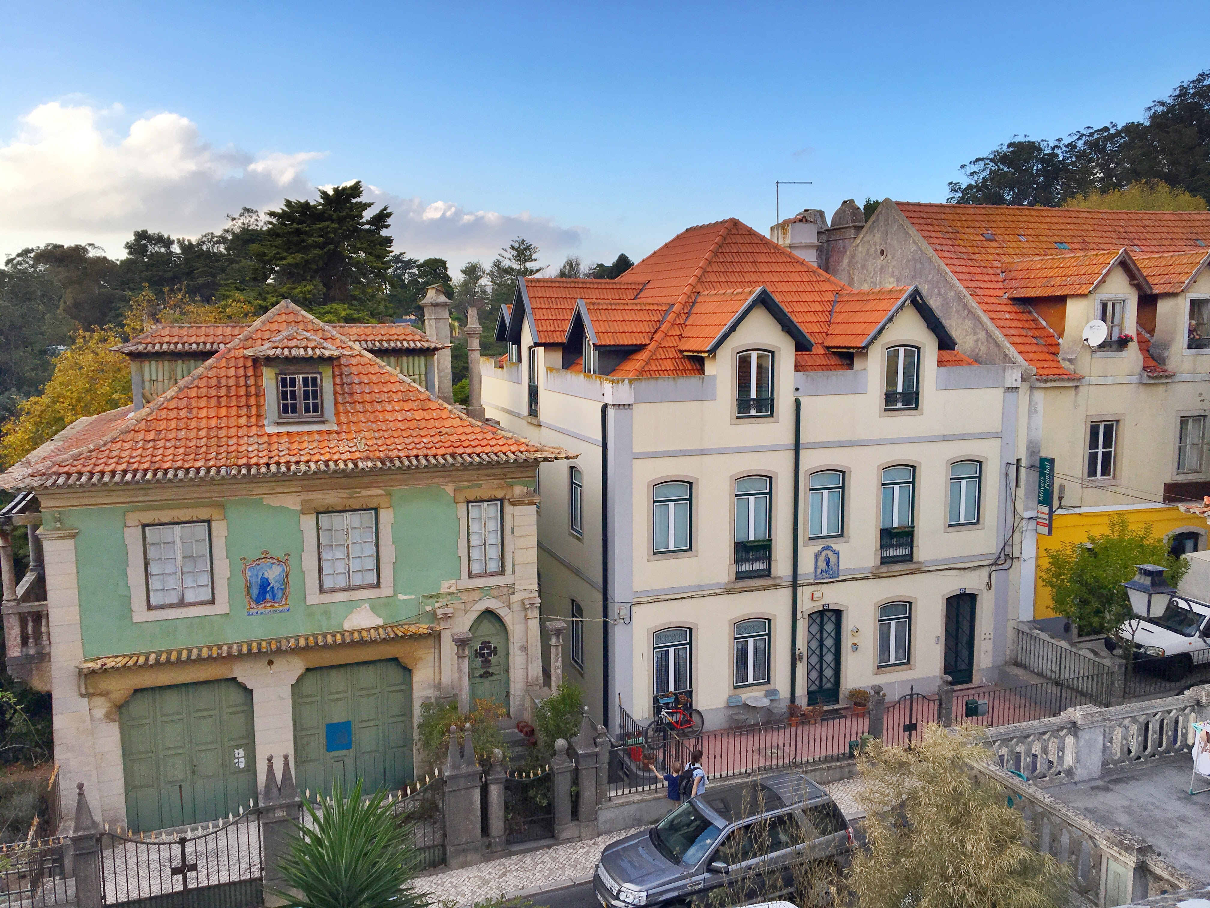 Colorful homes in Sintra, Portugal