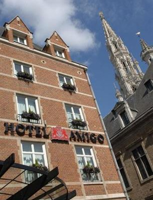 Outside Hotel Amigo in Brussels, Belgium