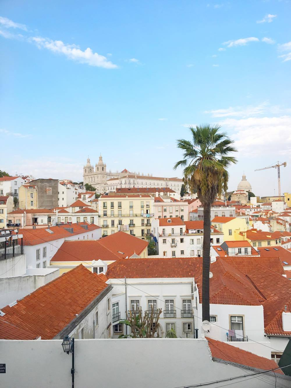 Terra-cotta rooftops in Lisbon, Portugal