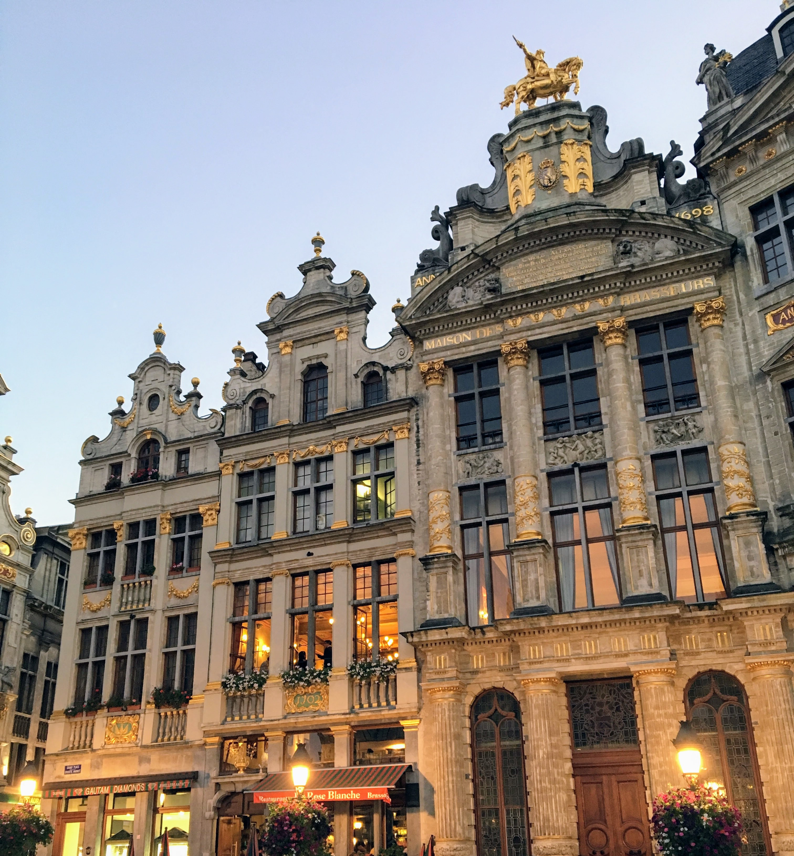 The Grand Place architecture in Brussels, Belgium