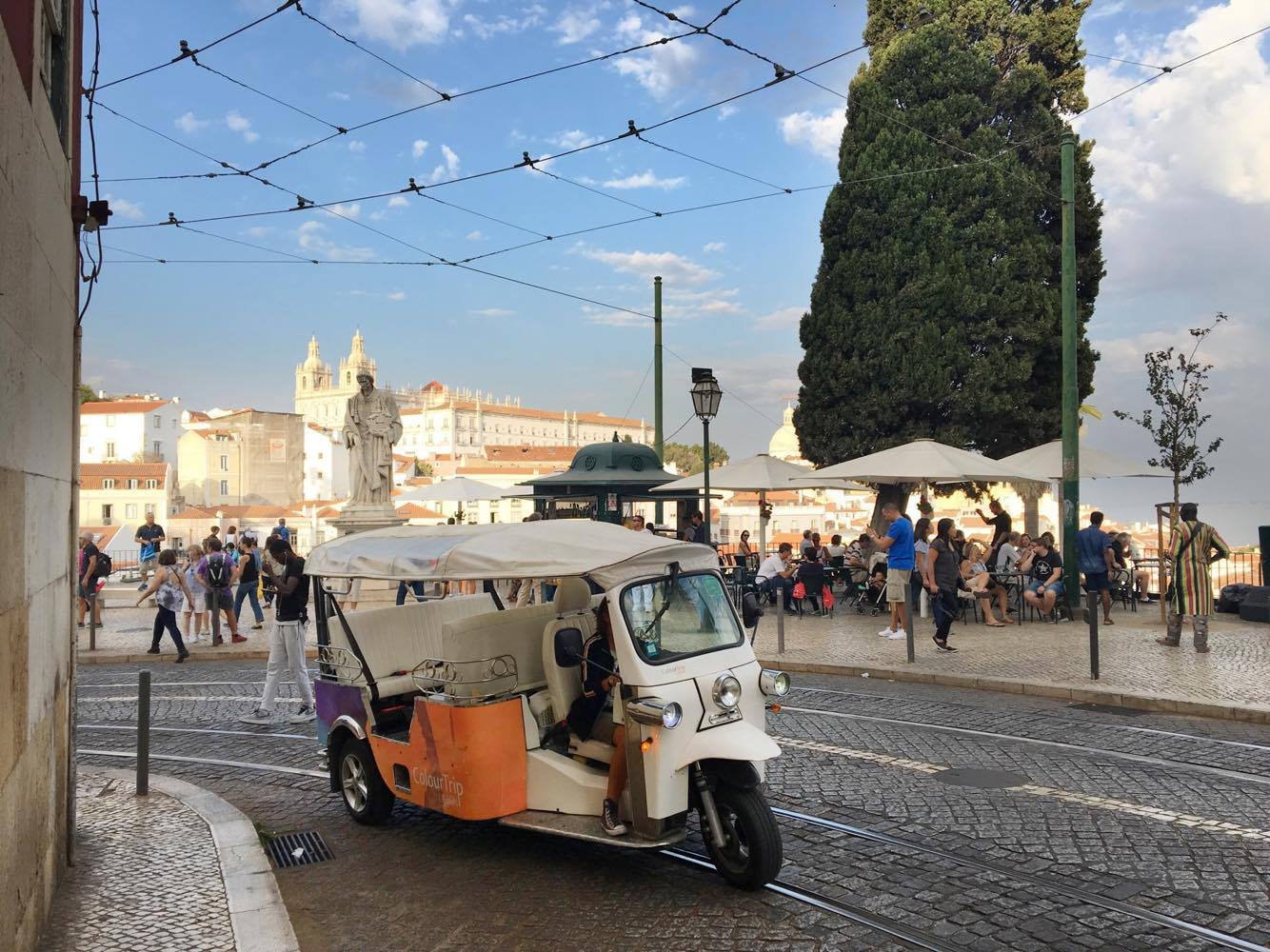 Tuk Tuk in Lisbon, Portugal