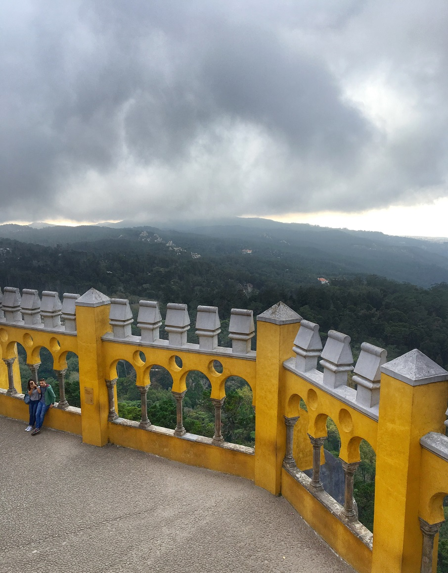 View from Pena Palace in Sintra, Portugal