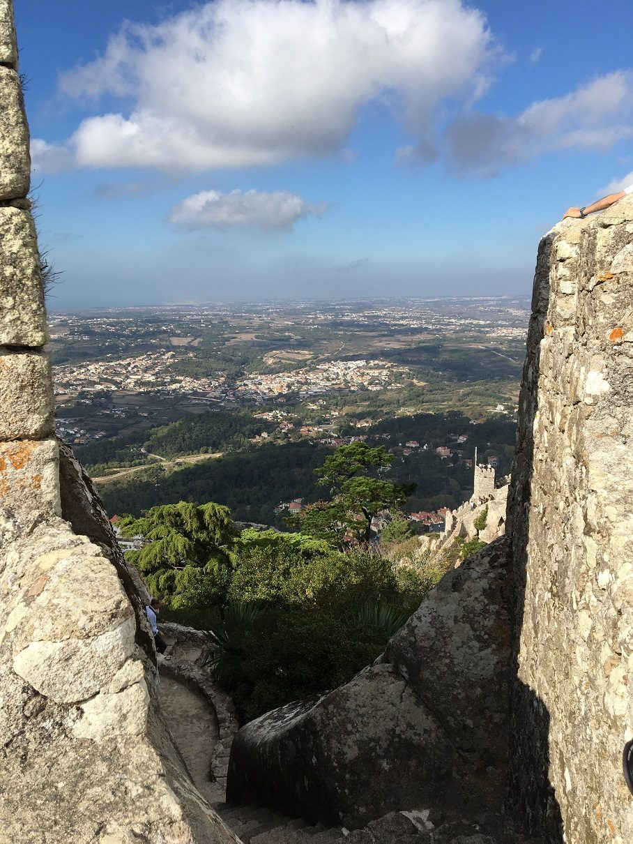 View from the Moorish Castle in Sinta, Portugal