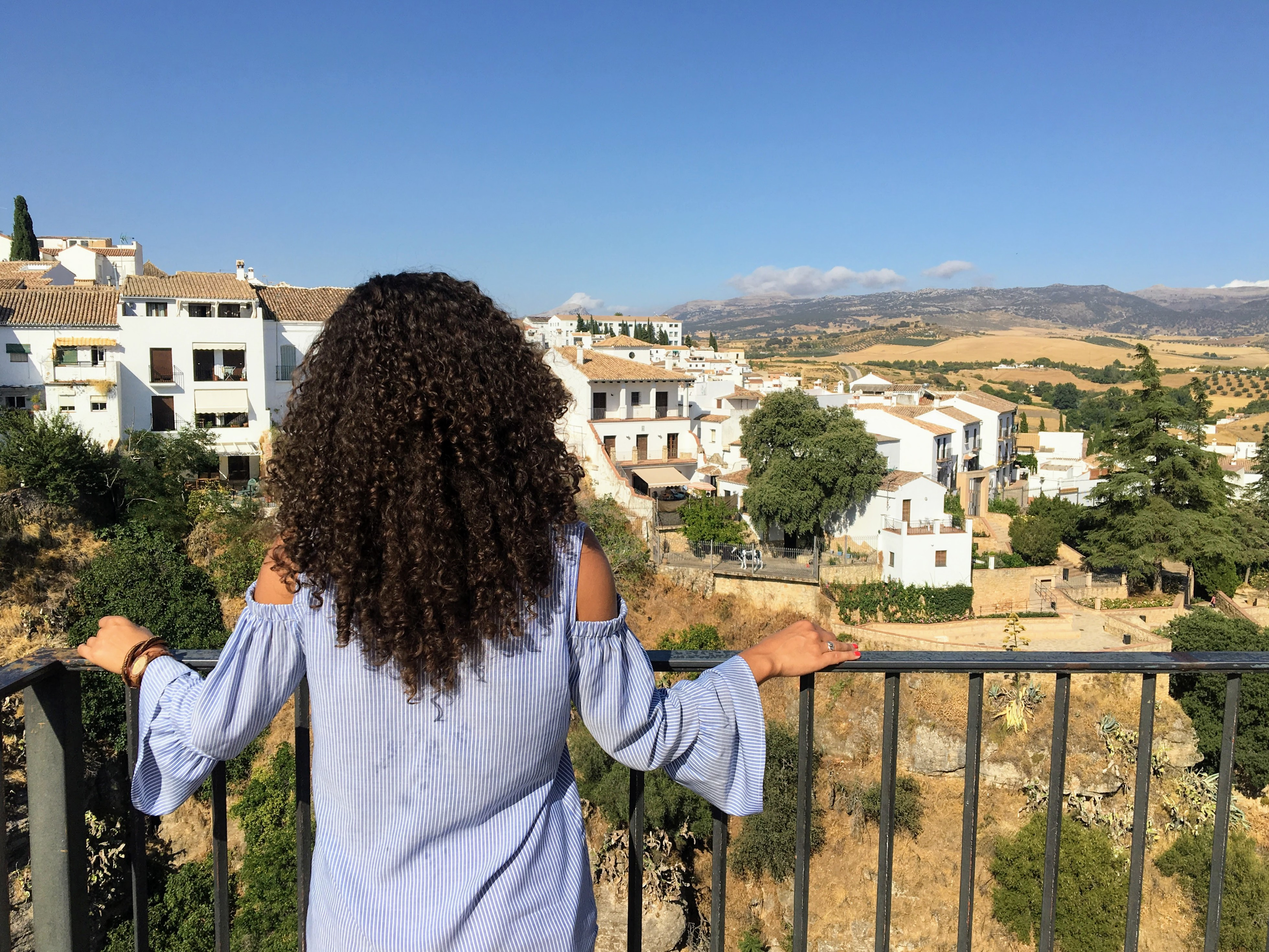 Looking out over Ronda Spain in Andalucia