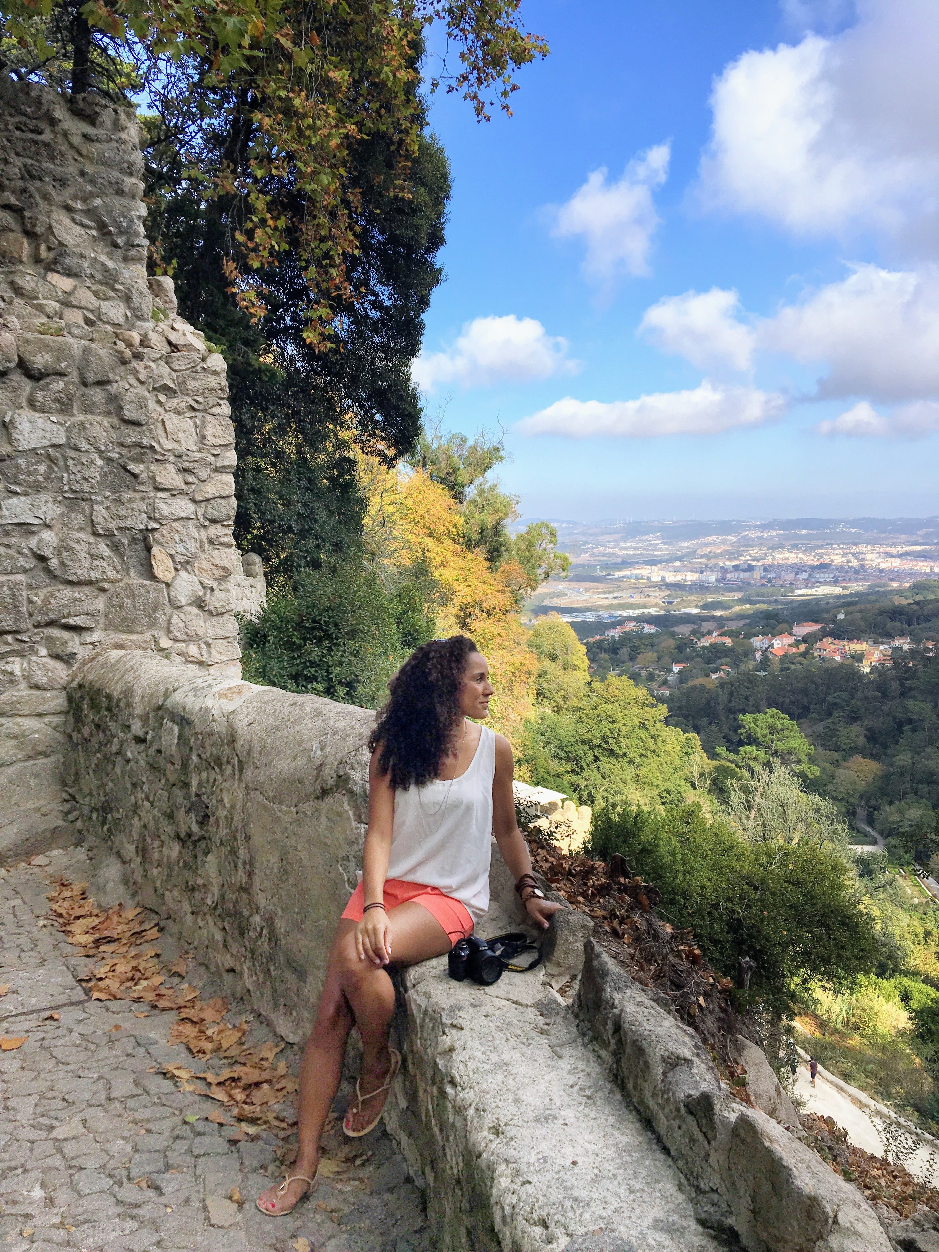 Panoramic view from the Moorish castle in Sintra, Portugal