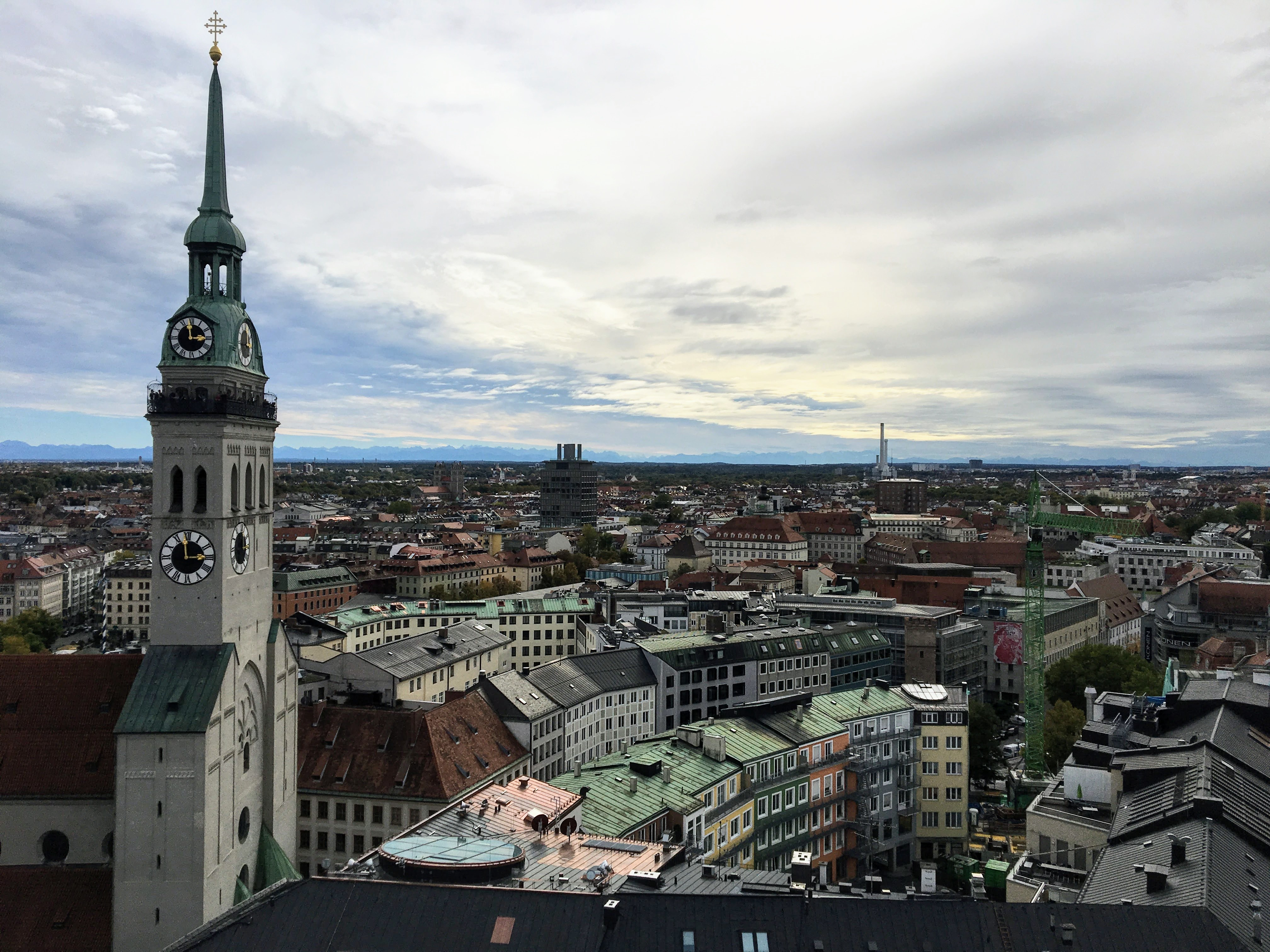 View from the to top of New Town Hall in Munich, Germany
