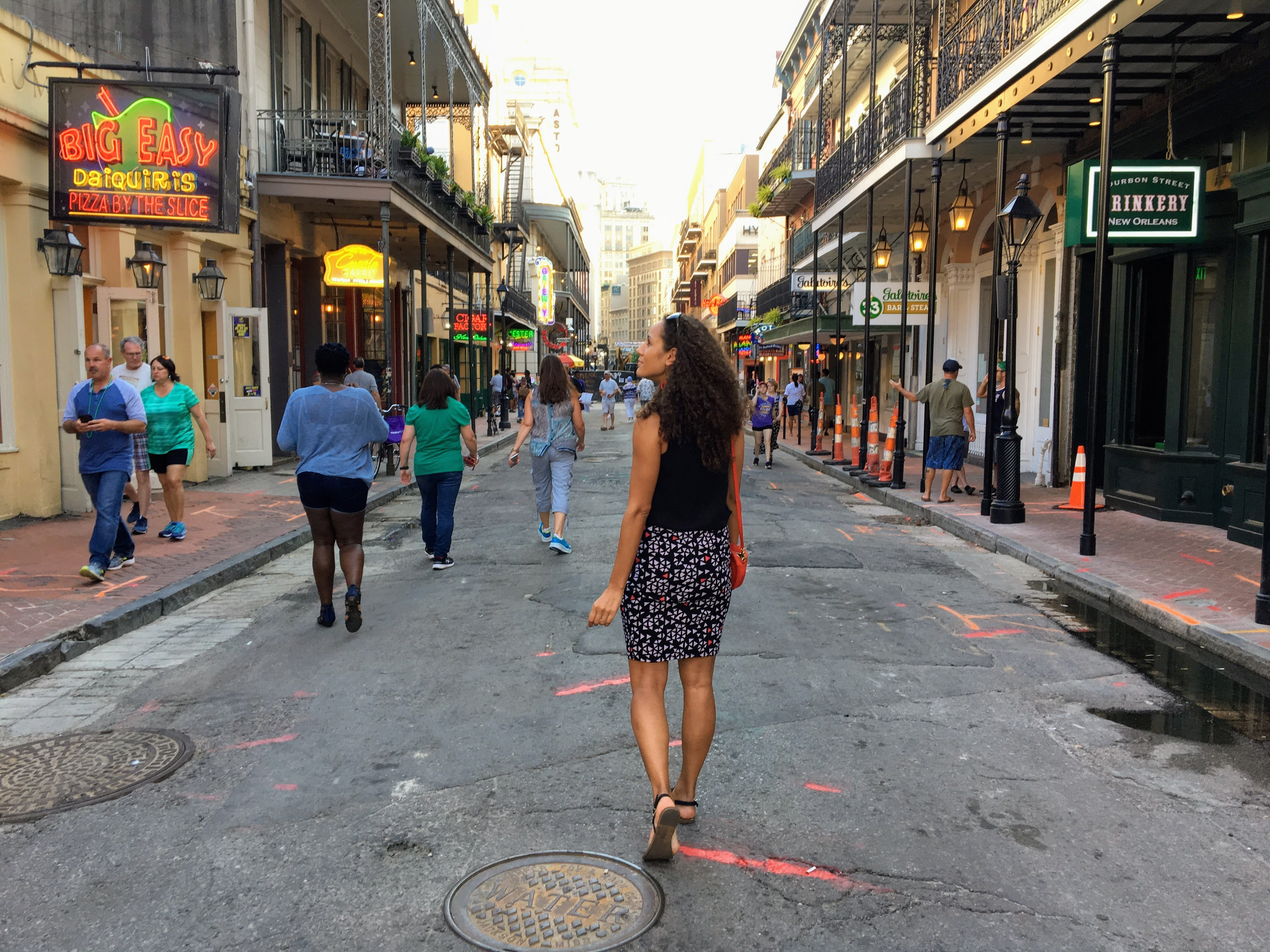 Walking through the French Quarter in New Orleans, Louisiana