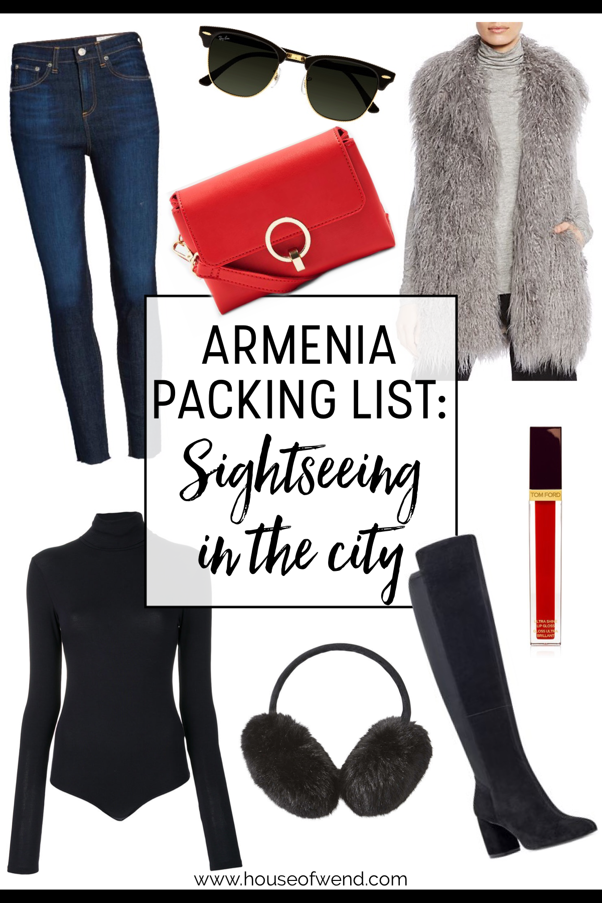 Amenia packing list for sightseeing in the city