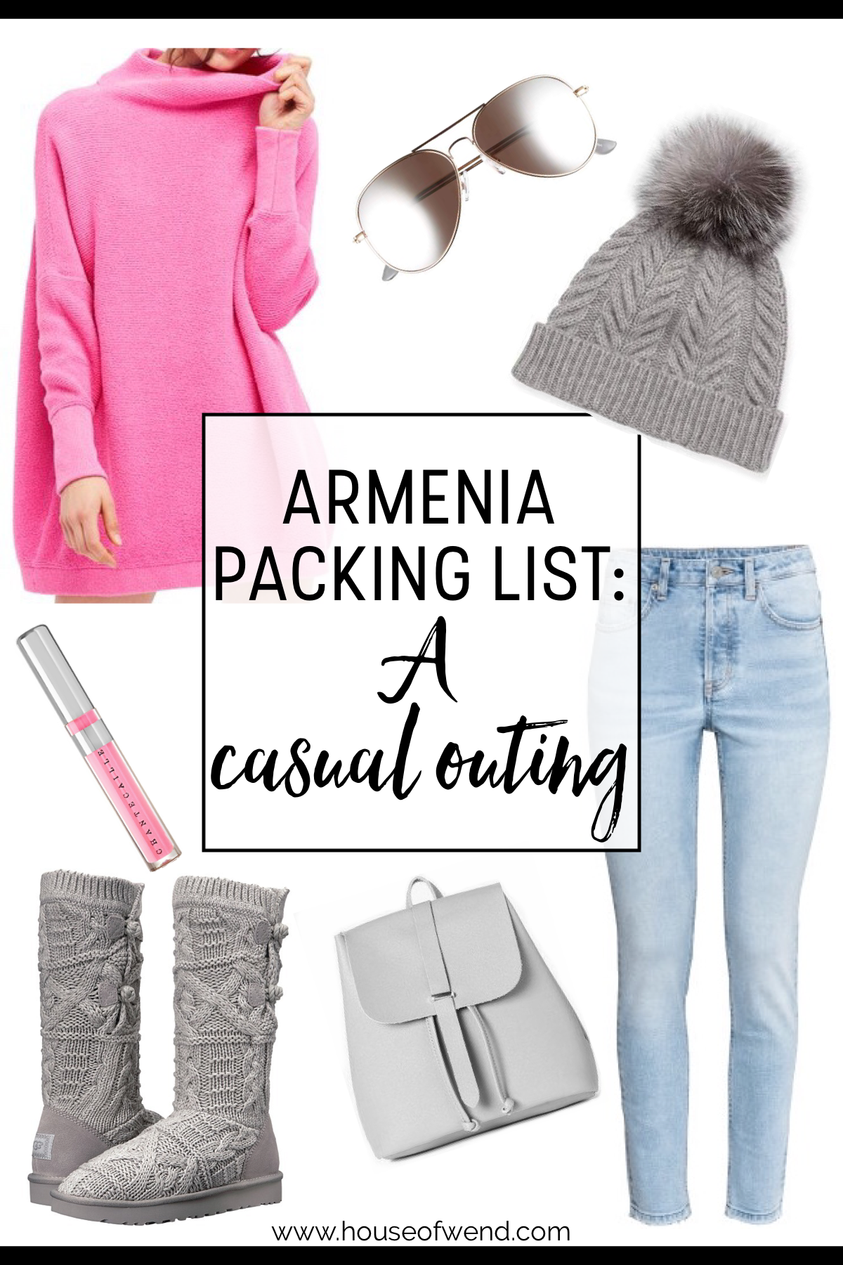 Armenia packing list for a casual outing
