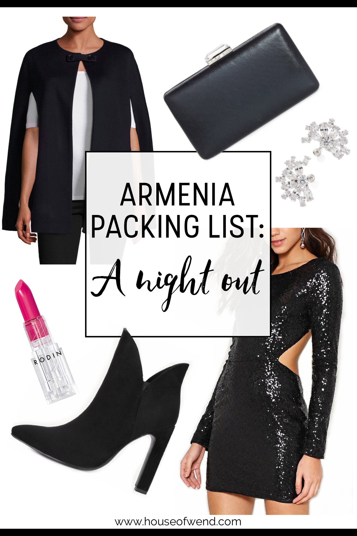 Armenia packing list for a night out