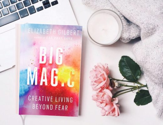 Big Magic by Elizabeth Gilbert flat lay