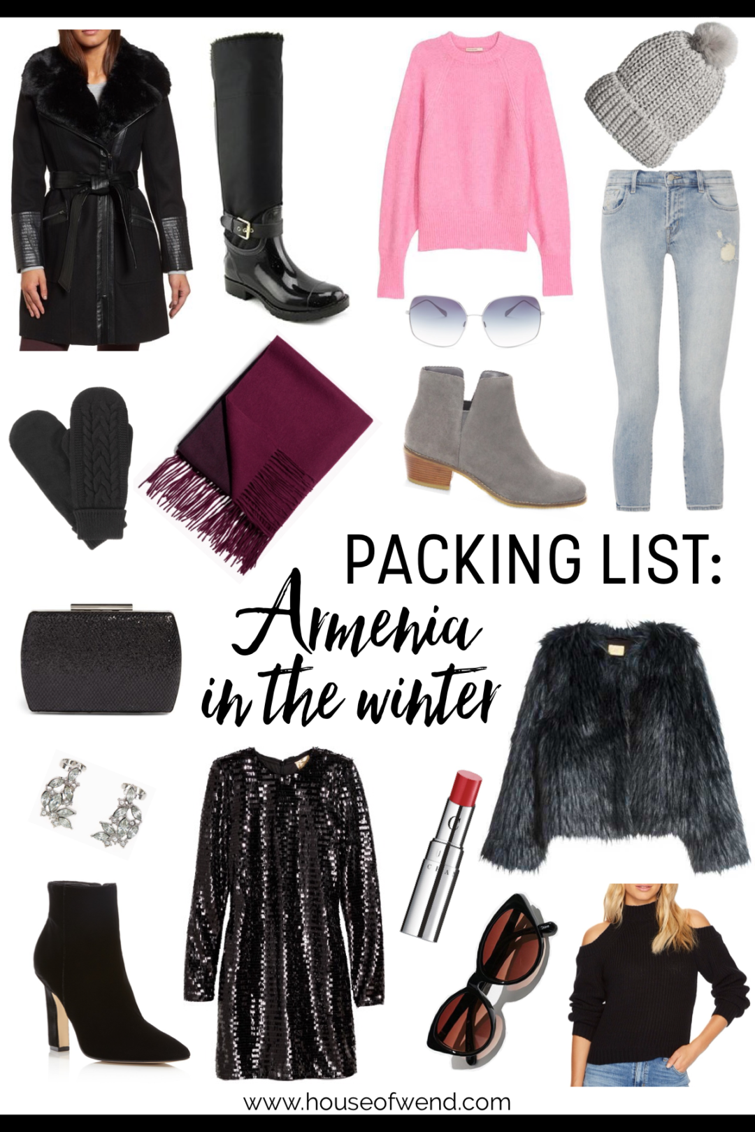 Packing list for Armenia in the winter